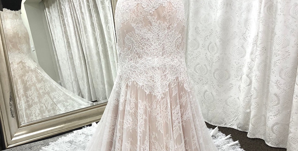 9831, Watters size 2 ivory-champagne