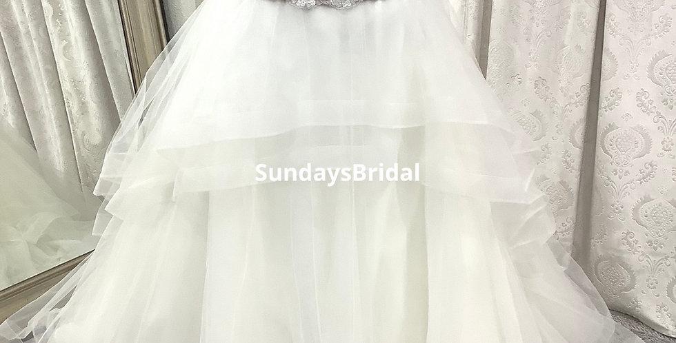 0309, Wtoo 2piece dress size 18 ivory -latte