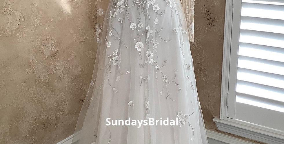 9802, SundaysBridal 30731 size 2 ivory-nude