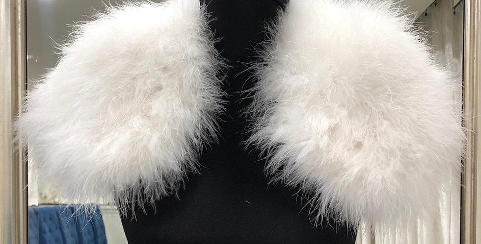 94B, Fur Bolero size small white