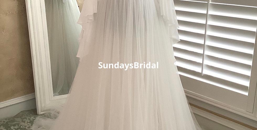0355, SundaysBridal 95273 size 4 ivory