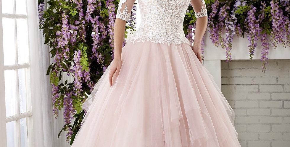 7367, Bonny 632 size 6 ivory-pink