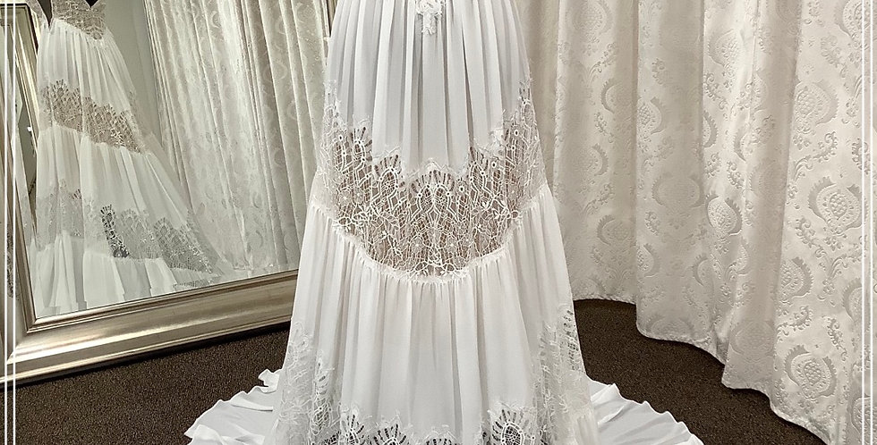 0191, Willowby 53400 size 2 ivory-nude