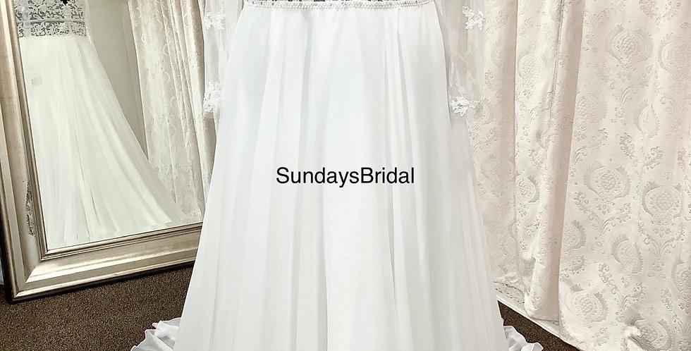 0162, SundaysBridal 1303 size 22 ivory