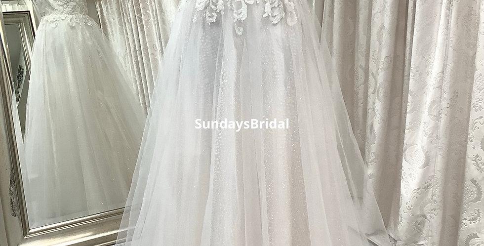 0712, SundaysBridal size 8 ivory -blush