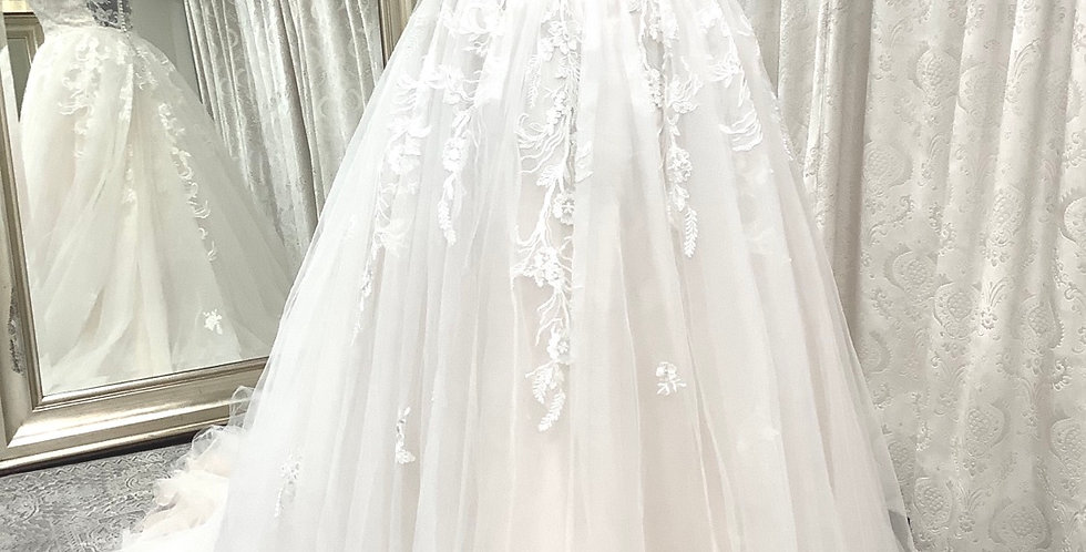 8910, Private Collection 1589 size 16 ivory-blush