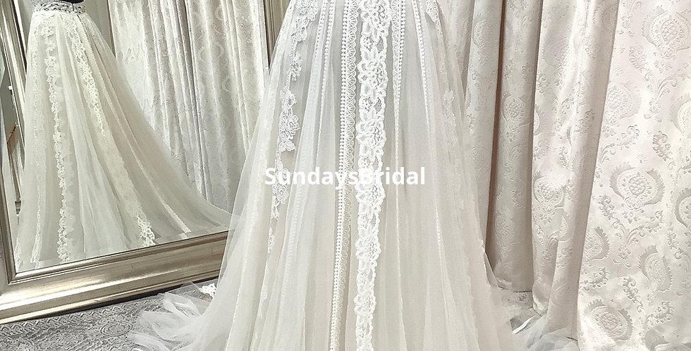 0575, SundaysBridal 94214 size 2 sand-ivory