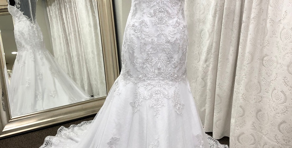 6460, Christina Wu 15568 size 12 white