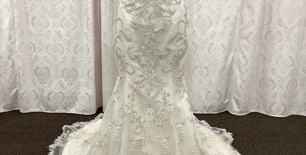 9035, Maggie Sottero size 14, ivory-light gold