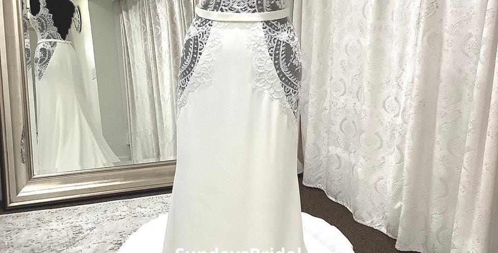 0023, Willowby 59420 size 10 ivory