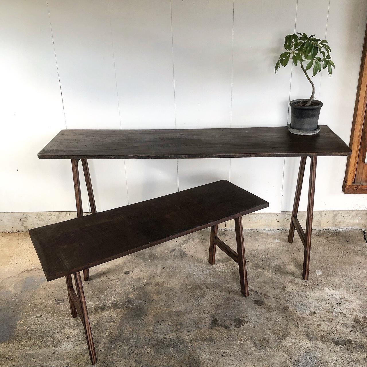 古材のおりたたみテーブル