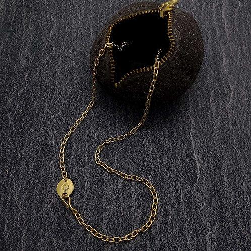 K18 GOLD ROUND WIRE NECKLACE (L)