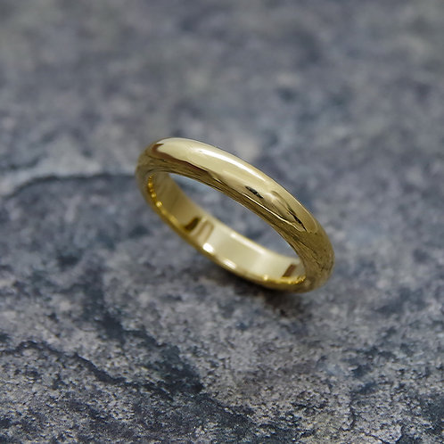 K18 YELLOW GOLD DOME RING