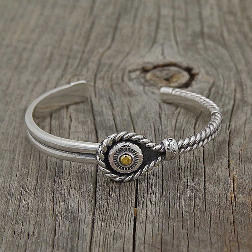 Twist Wire Bangle (Sun)