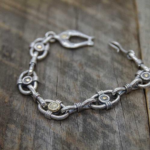 Wheel Sun & Moon Bracelet