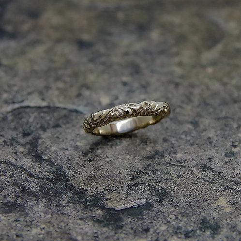 K18 WHITE GOLD TRIBAL RING