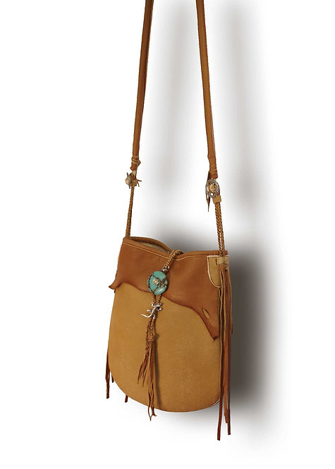 Deer Skin Shoulder Bag-A-