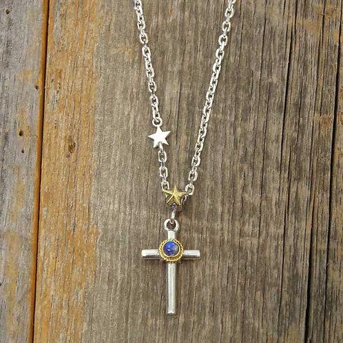Small Round Bar Cross & Star