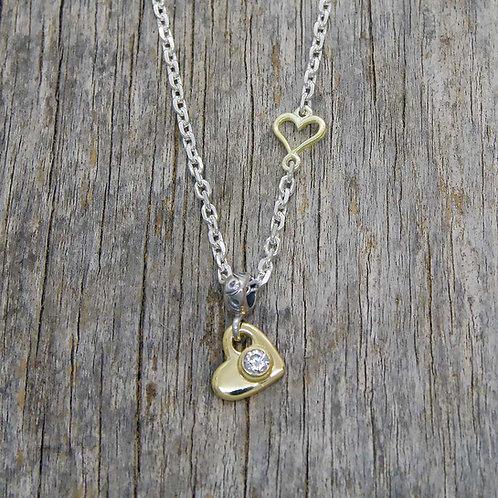 Gold Heart & Zirconia