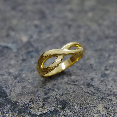 K18 YELLOW GOLD INFINITY RING