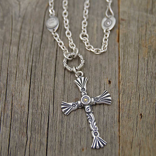 Cross Tribal Necklace