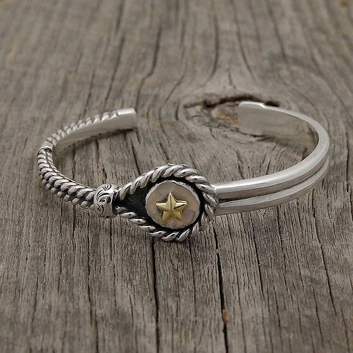 Twist Wire Bangle (Star)