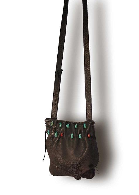 Turquoise Beads Shoulder Bag