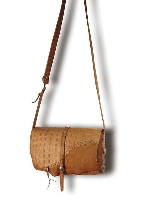 Croco Textured Pattern Shoulder Bag