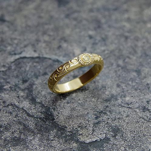 K18 GOLD KARAKUSA DOME RING