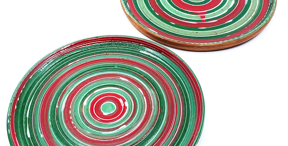 Christmas Tanoura Plates (Couple)