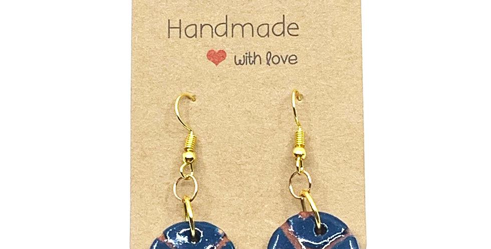 X Blue Earrings