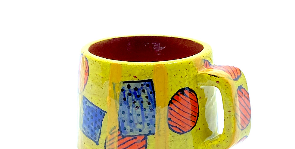 Yellow Geometric Mug