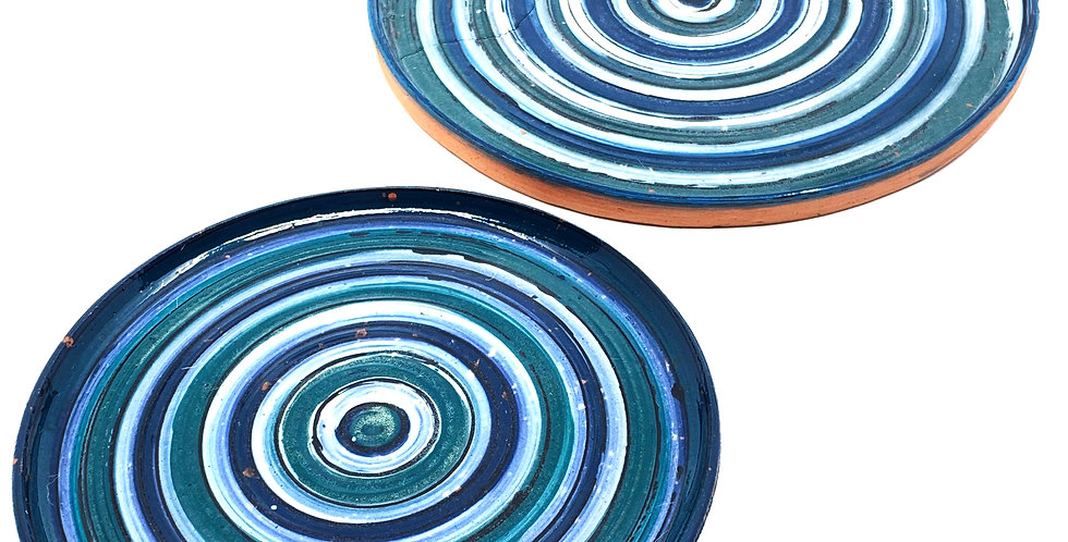 Blue-White Tanoura Plate (Couple)