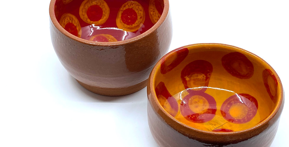 Red Dotty Bowls (Couple)