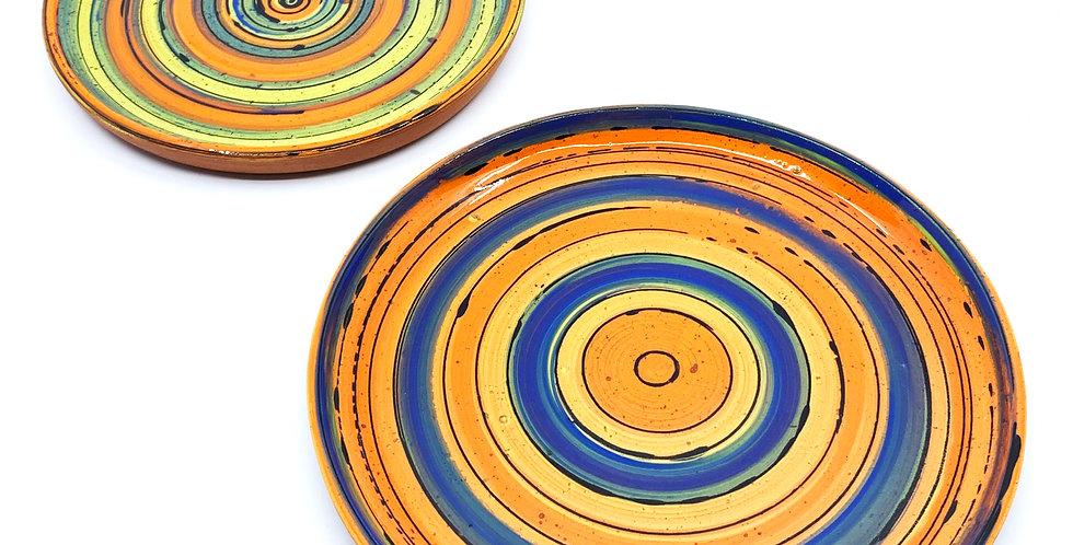 Orange Tanoura Plates (Couple)