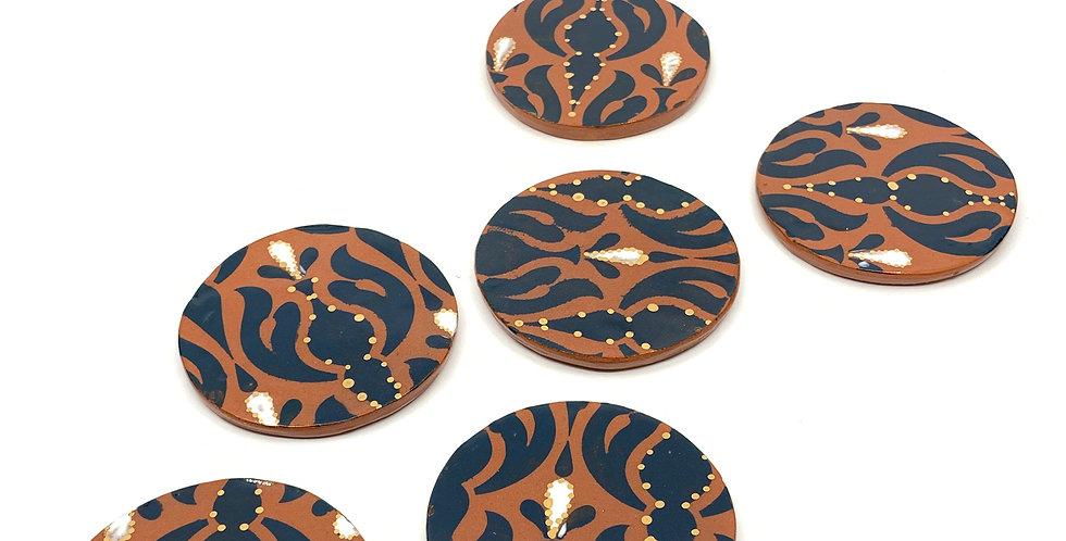 Royal Blue Ramadan Coasters (Set of 3)