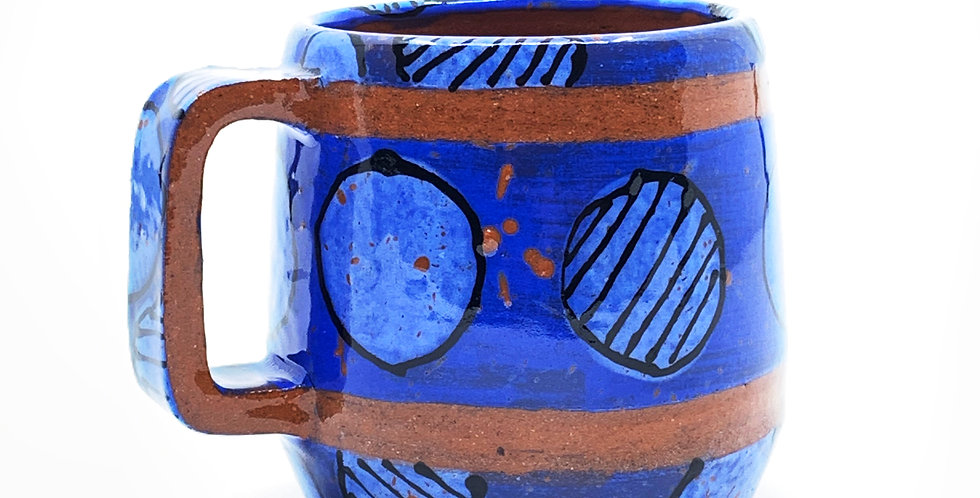 Blue Geometric Mug