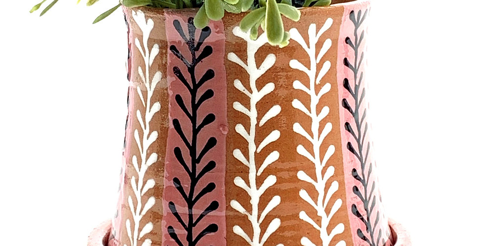 Pink Branches Planter