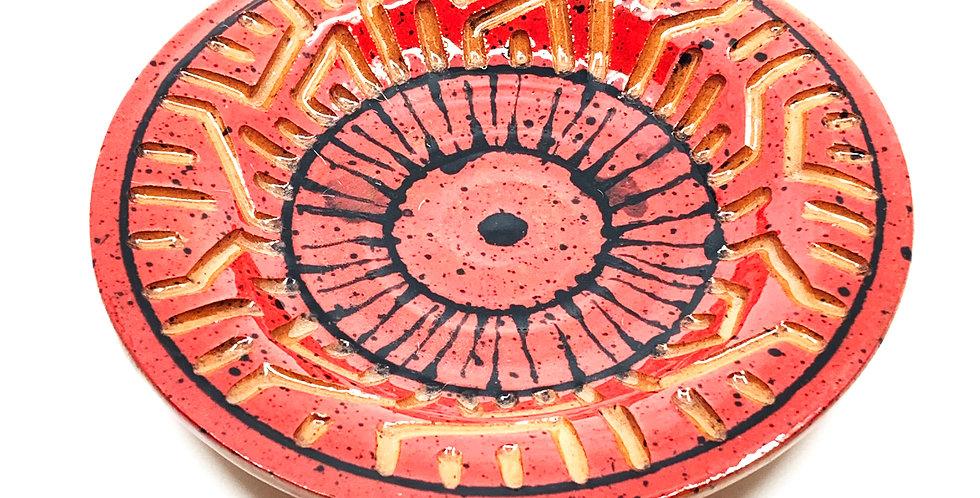 Red Maze Decorative Plate