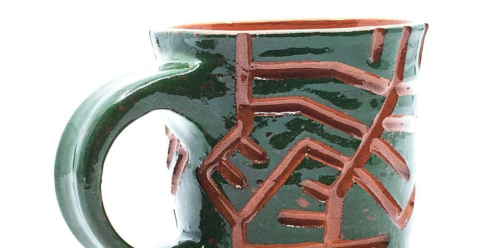 Green Maze Mug