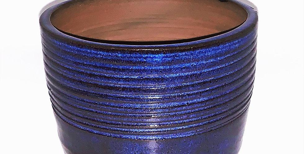 Space Blue Striped Planter