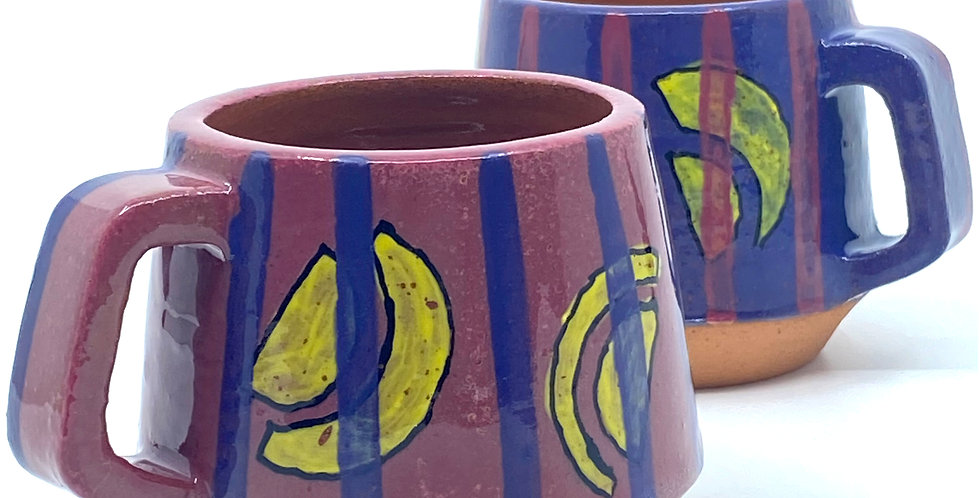 Purple Yellow Mugs (Couple)