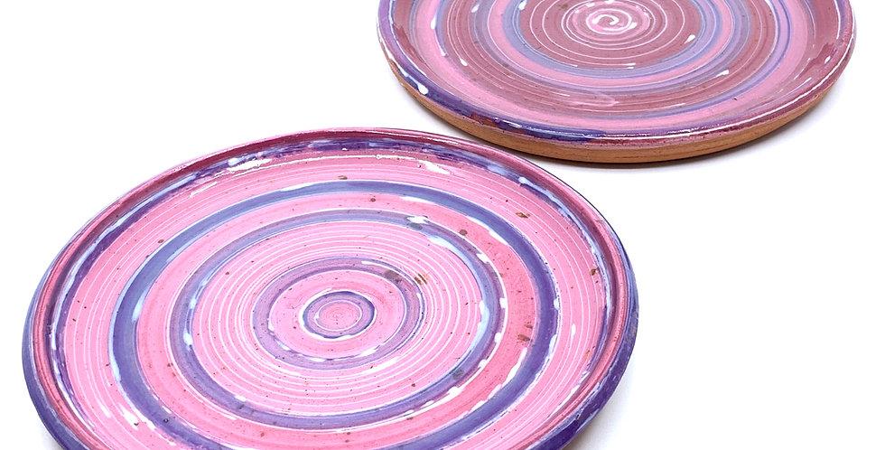 Pink Tanoura Plates (Couple)