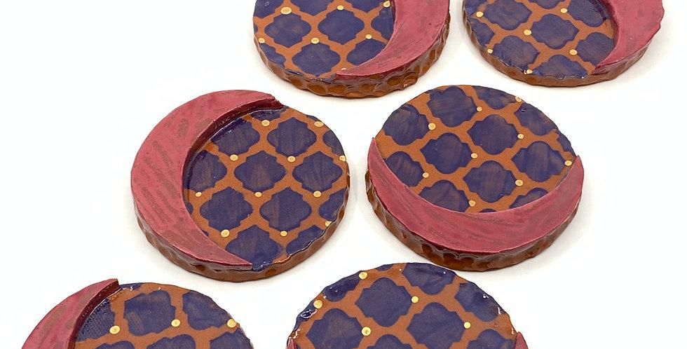 Violet Ramadan Coasters (Set of 3)