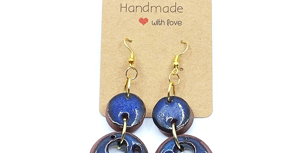 Blue Paw Earrings