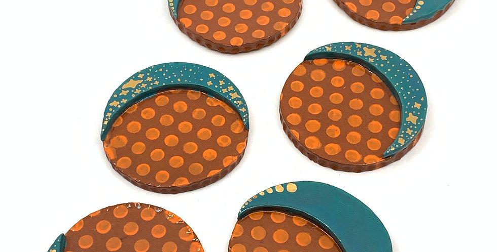 Turquoise Ramadan Coasters (Set of 6)