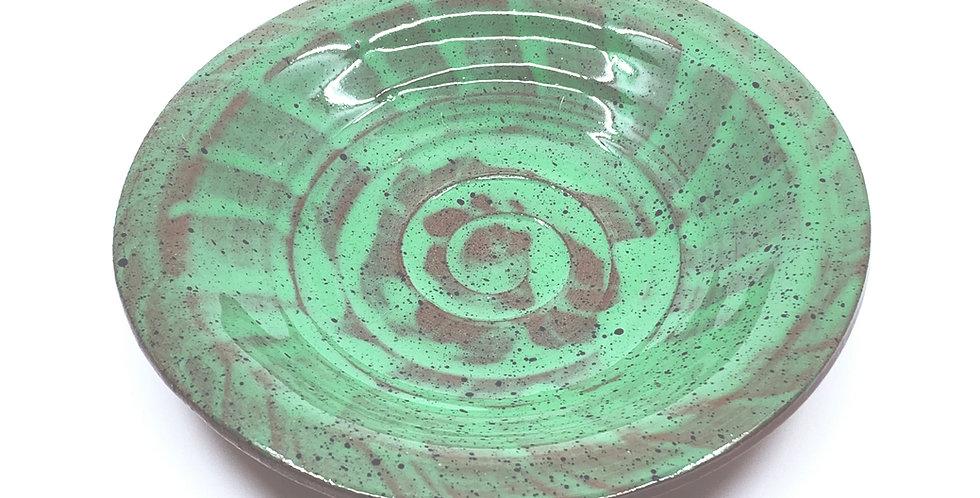 Seashell Green Decorative Plate