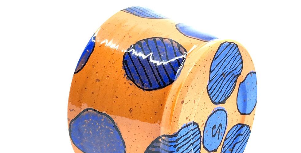 Orange Geometric Bowl