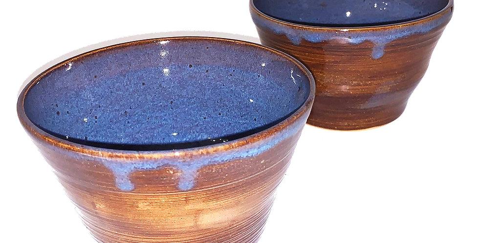 Ancient Copper Blue Bowls (Couple)