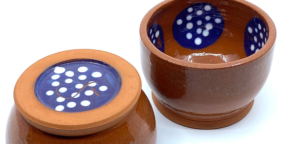 Dotty Blue Bowls (Couple)